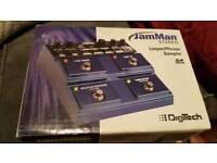 JamMan digitech looper pedal phrase sampler
