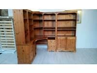 Very Large Solid Pine Corner Desk