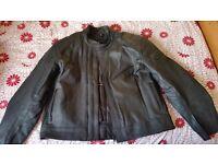 Frank Thomas Leather Motorcycle Jacket, Biker Size 56 UK (Isle of Dogs, London) Mint Condition