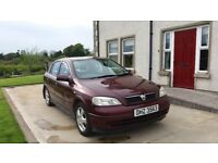 Vauxhall Astra Club 2002, 5dr Hatchback 1598cc, Mot'd until 14th Dec 2018