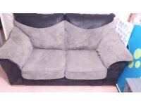 Grey & Black 2/3 seater sofa