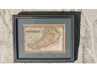 Cardiganshire Antique Maps Published By James Wallis/C Hinton Circa 1800