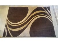 120x170cm Brown - Cream rug for sale in Perfect condition