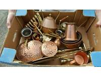 Box of brass and copper