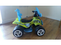 Chad Valley 6V Blue and Green Baby Quad Bike VERY GOOD CONDITION