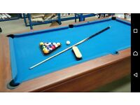 Full Size Blue Pool Table