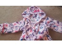 brand new hello kitty dressing gown age 2-3yrs