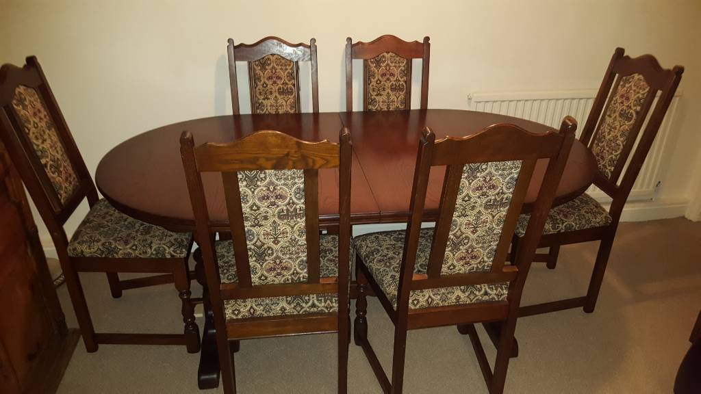 OLD CHARM WOODS BROS DINING SUITE