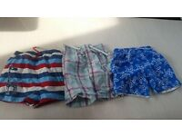 3 pairs of boys swimshorts 2-3 years