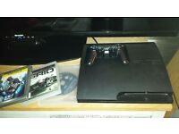 Playstation 3 Slim. 160 gb.2 controllers. 3 games 80 pound