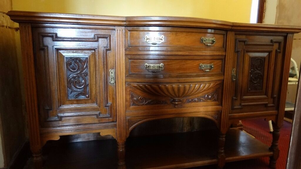 Antique sideboard early 1900  Trevor Page   Co  Cabinet Makers  Norwich. Antique sideboard early 1900  Trevor Page   Co  Cabinet Makers