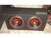 Edge twin bass amp subwoofer for sale