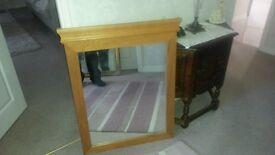 Mirror,large oak framed