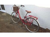 Red vintage Kingston Mayfair ladies city bike