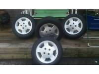 Ford sierra gt alloys with new tyres 185x60x14 mint