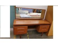 G Plan Fresco Floating Top dressing table or desk Eames Era,Delivery Available