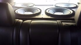 X4 jbl gt5 subwoofers and box