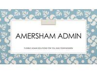 Amersham Admin - professional, experienced PA providing flexible admin solutions