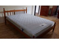 Very sturdy pine bed and good quality and very clean mattress.