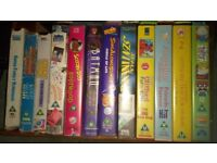 Many VHS videos for all ages. Located Kedington.