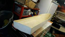 Model boat hull for sale long white