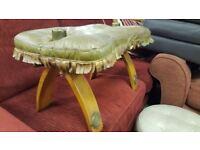 Vintage Camel Saddle / Footstool