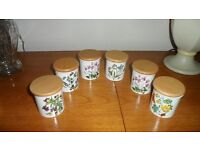 Portmeirion Spice Jars x 6 never been used