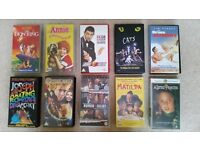 VHS Video tape collecion: 'Lion King', 'Matilda', 'Cats', 'Peter Pan', 'Annie', 'Johny English' ....