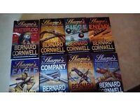 Boxed set of 8 Bernard CORNWELL books. Paper backs