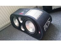FLI Trap Twin 12 Activ Subwoofer, car audio perfect condition