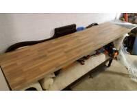 Block oak affect worktop