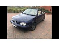 VW GOLF 1.6 GL CONVERTIBLE AUTO LEATHERS LOW MILES 2 LADY OWNERS