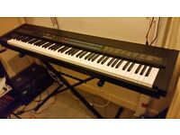 Yamaha KX88 (classic weighted keys MIDI keyboard controller) with Yamaha FC4a pedal and manual