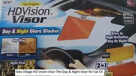 HD CLEAR VIEW VISION DAY & NIGHT SUN VISOR ANTI-GLARE UV BLOCKER FOLD FLIP
