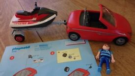 Playmobil 5133 Convertible Sports Car Roadster with Trailer & Jet Ski