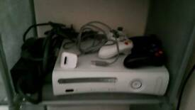Xbox 360 with 2 wired controllers
