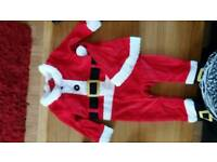 Babys xmas baby grows with hat