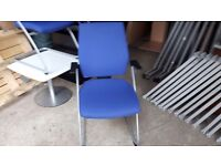Blue executive office chairs top spec 30 pounds each