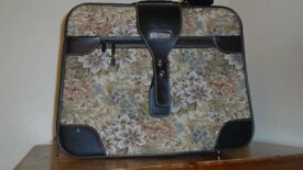 Pullman vinyl and tapestry suitcase **REDUCED**