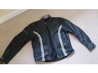 A Great Ladies Leather Quality Hein Gericke Motor Bike Jacket Size 14-16