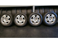 VW Genuine 15 alloy wheels + 4 x tyres 195 65 15