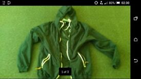 Mens light hooded zip top. As new condition