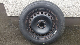 Ford steel wheel and tire 5X108 16""