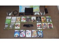 HUGE XBOX 360 Bundle Console Kinect Games Controllers