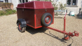 TRAILER 5X3', VGC, with lid, spare wheel, etc