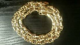 9K WHITE & GOLD ITALIAN CHAIN
