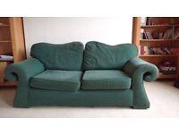 Comfy 3 seater sofa (plus stool)