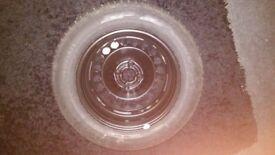 Vauxhall Corsa D spare wheel 7mm dunlop