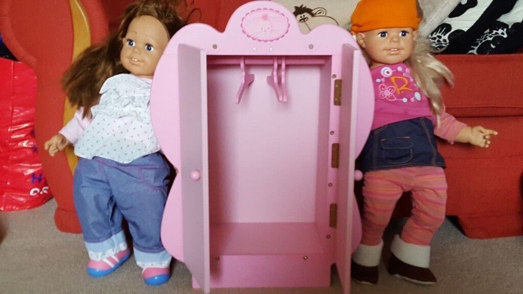 X2 large dolls & dolls clothes wardrobe