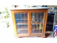 Mahogany bookcase/display cabinet